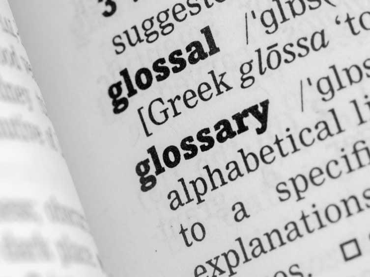 Glossary---