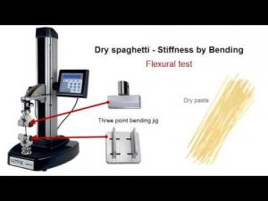 Lloyd Instruments TA1 Food Texture Analyzer Flexural Testing Video