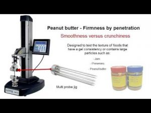 Lloyd Instruments TA1 Food Texture Analyzer Smoothness and Crunchiness Testing Video