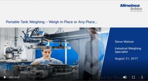 Portable Tank Weighing Video
