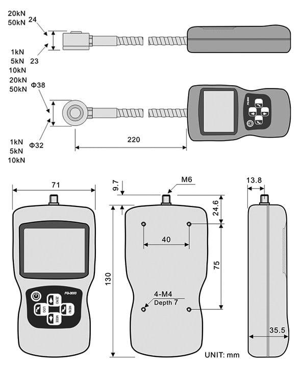 Shimpo FG-3000R Digital Gauge