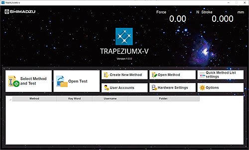 Shimadzu TRAPEZIUMX-V Materials Testing Software