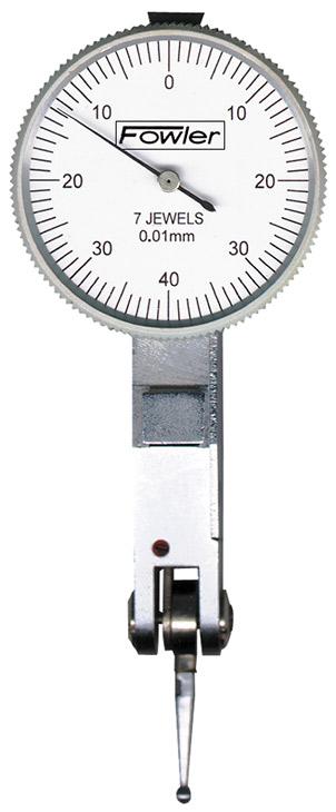"Fowler 1-1/4"" Horizontal Whiteface Test Indicator 52-563-677"