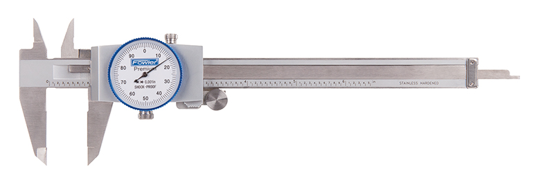 "Fowler 0-6"" Whiteface Machinist Grade Dial Caliper 52-008-706-0"