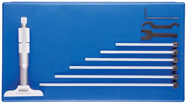Fowler 0 - 75mm Premium Depth Micrometer 52-225-075-1