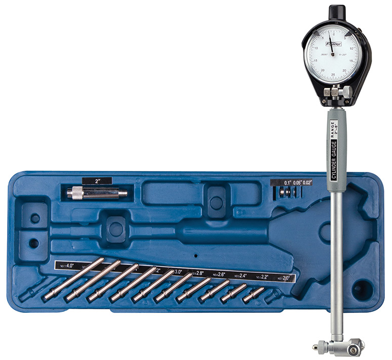 "Fowler 2"" - 6"" Dial Bore Gage Set with Carbide Anvils 52-646-300-0"