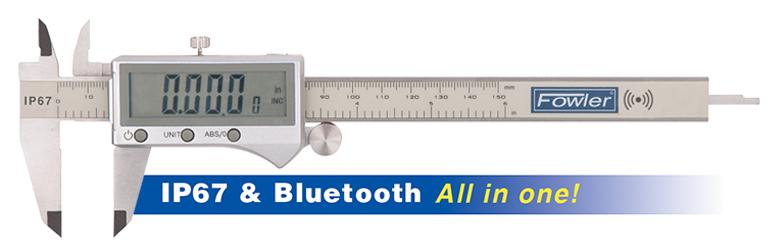 "Fowler IP67 PLUS 0 - 8""/0 - 200mm Electronic Caliper 54-100-558-BT"