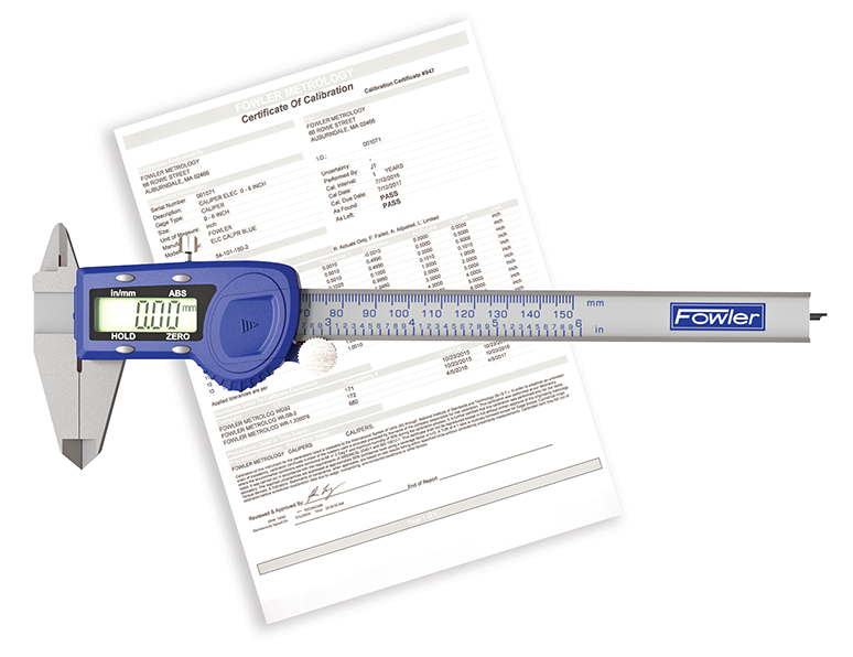 "Fowler 6""/150mm Xtra-Value Cal Electronic Caliper with N.I.S.T Certification 54-101-150-C"