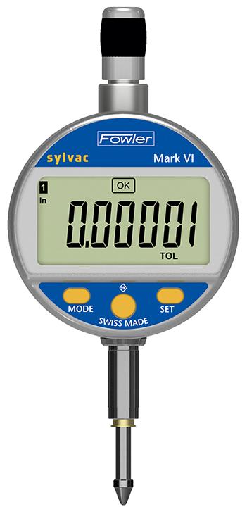 "Fowler-Sylvac 1""/25mm Bluetooth Mark VI Nano Electronic Indicator 54-530-640-0I Nano Electronic Indicator 54-530-625-0"