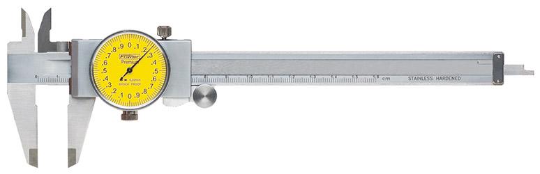 Fowler 0-150mm Yellowface Machinist Grade Dial Caliper 52-008-709-0