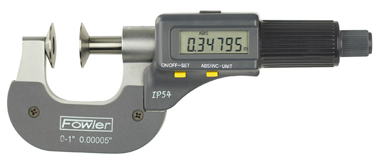 "Fowler 0-1""/0-25mm Electronic IP54 Disc Micrometer 54-860-301-0"
