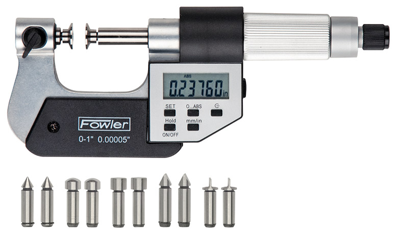 "Fowler 0-1""/0-25mm Universal Electronic Micrometer 54-817-777-0"