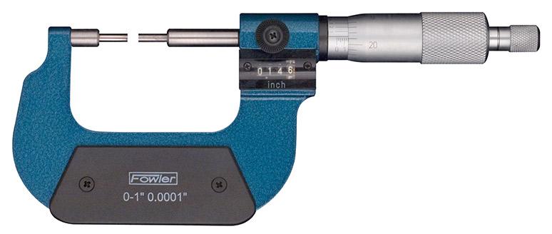 """Fowler 0-1"""" Digit Counter Spline Micrometer 52-218-301-1"""