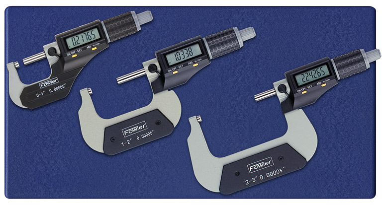 "Fowler 0-3""/0-75mm Xtra-Value II Electronic Micrometer Set 54-870-103-0"