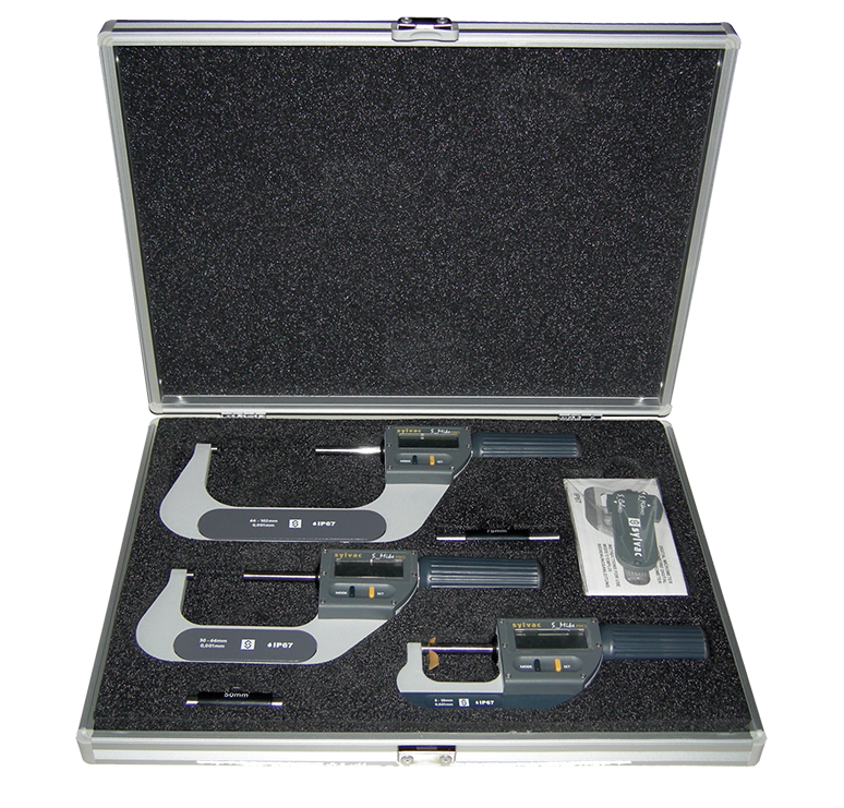 "Fowler 0 - 4""/0 - 102mm Rapid-Mic Electronic Micrometer Set with Lifetime Warranty"
