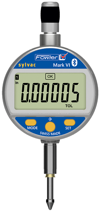 "Fowler 0-.500""/12.5mm Mark VI Electronic Indicator with Bluetooth Technology 54-530-335-0"