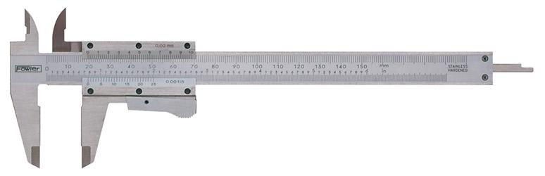 """Fowler 0-6""""/150mm Vernier Caliper with Thumb Lock 52-059-016-0"""