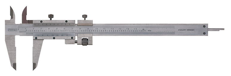 Fowler 52-058-012 Stainless Steel Fine Adjustment Vernier Caliper with Satin