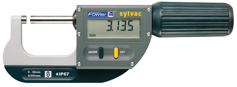 "Fowler 1.18""-2.6""/30-60mm Rapid-Mic Electronic Micrometer with Lifetime Warranty 54-815-060-0"