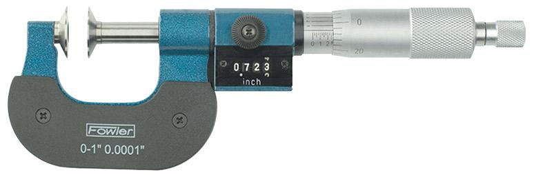 """Fowler 1-2"""" Digit Counter Disc Micrometer 52-250-302-1"""