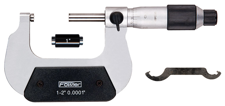 "Fowler 1-2"" Swiss Style Micrometer"