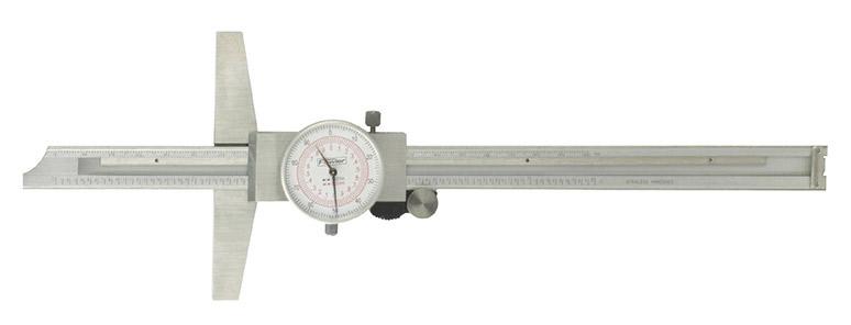 "Fowler 12""/300mm Inch/Metric Dial Depth Gage 52-130-012-0"