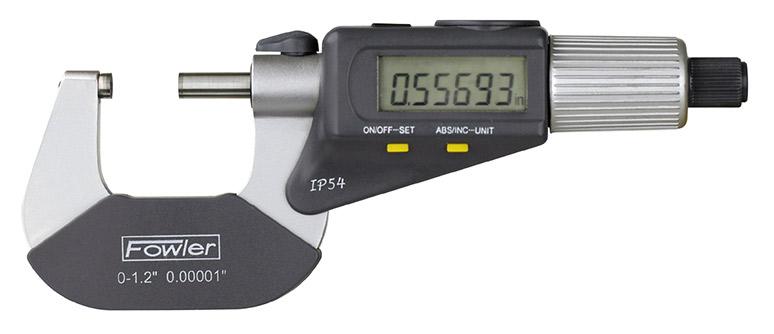 "Fowler 2-3""/50-75mm QuadraMic Electronic 4-Way Reading Micrometer 54-866-003-0ctronic 4 Way Reading Micrometer 54 866 003 0"