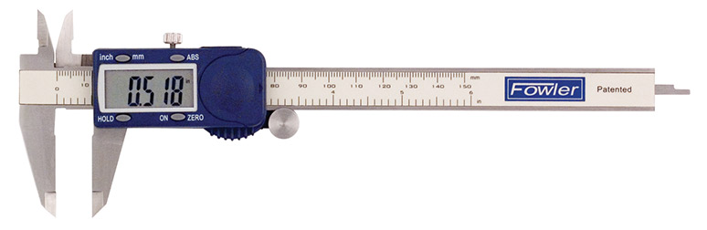 "Fowler 6""/150mm Xtra-Value Cal Electronic Caliper with Super Large Display 54-101-600-1"