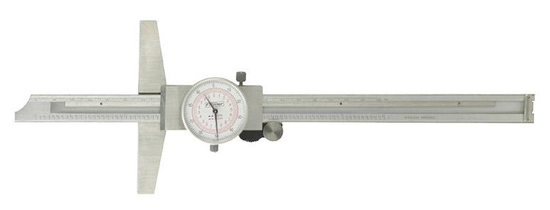 "Fowler 8""/200mm Inch/Metric Dial Depth Gage 52-130-008-0"