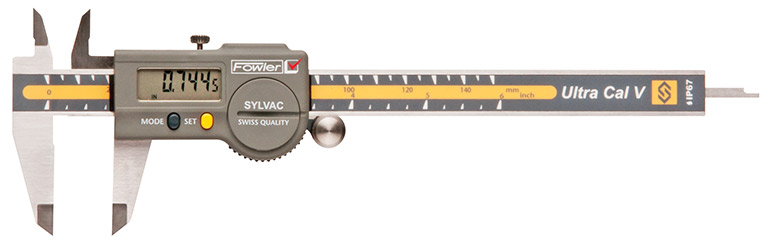 "Fowler 8""/200mm Ultra-Cal V Electronic Caliper with Lifetime Warranty 54-100-068-1"