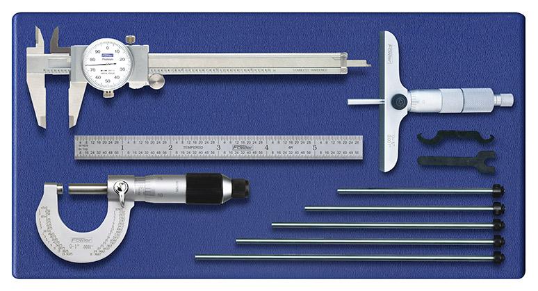 Fowler Four Piece Measuring Set 52 095 025 0