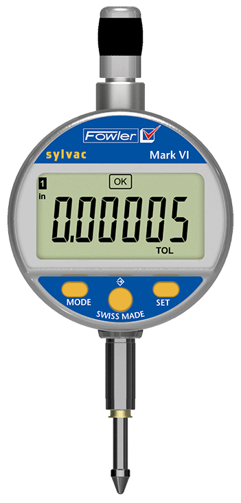 "Fowler-Sylvac 0-1""/25mm Mark VI Electronic Indicator with Lifetime Warranty 54-530-145-0"