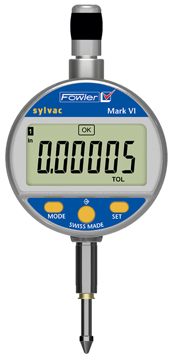 "Fowler-Sylvac 0-.500""/12.5mm Mark VI Electronic Indicator with Lifetime Warranty 54-530-125-0"
