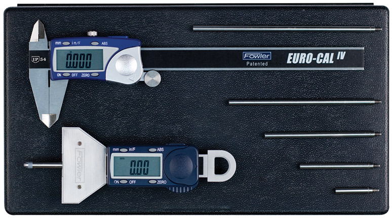 Fowler Xtra-Value Depth Gage and Euro-Cal IV Measuring Set 54-004-330-0