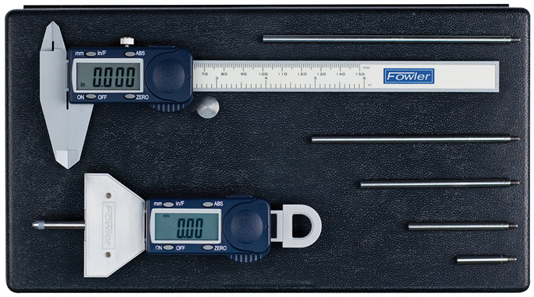 Fowler Xtra-Value Depth Gage and Poly-Cal Measuring Set 54-004-255-0