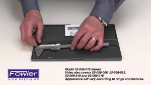 Fowler Vernier Calipers Video