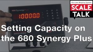 Setting Capacity on the 680 Synergy Plus Digital Weight Indicator Video
