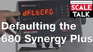 Defaulting the 680 Synergy Plus Digital Weight Indicator Video