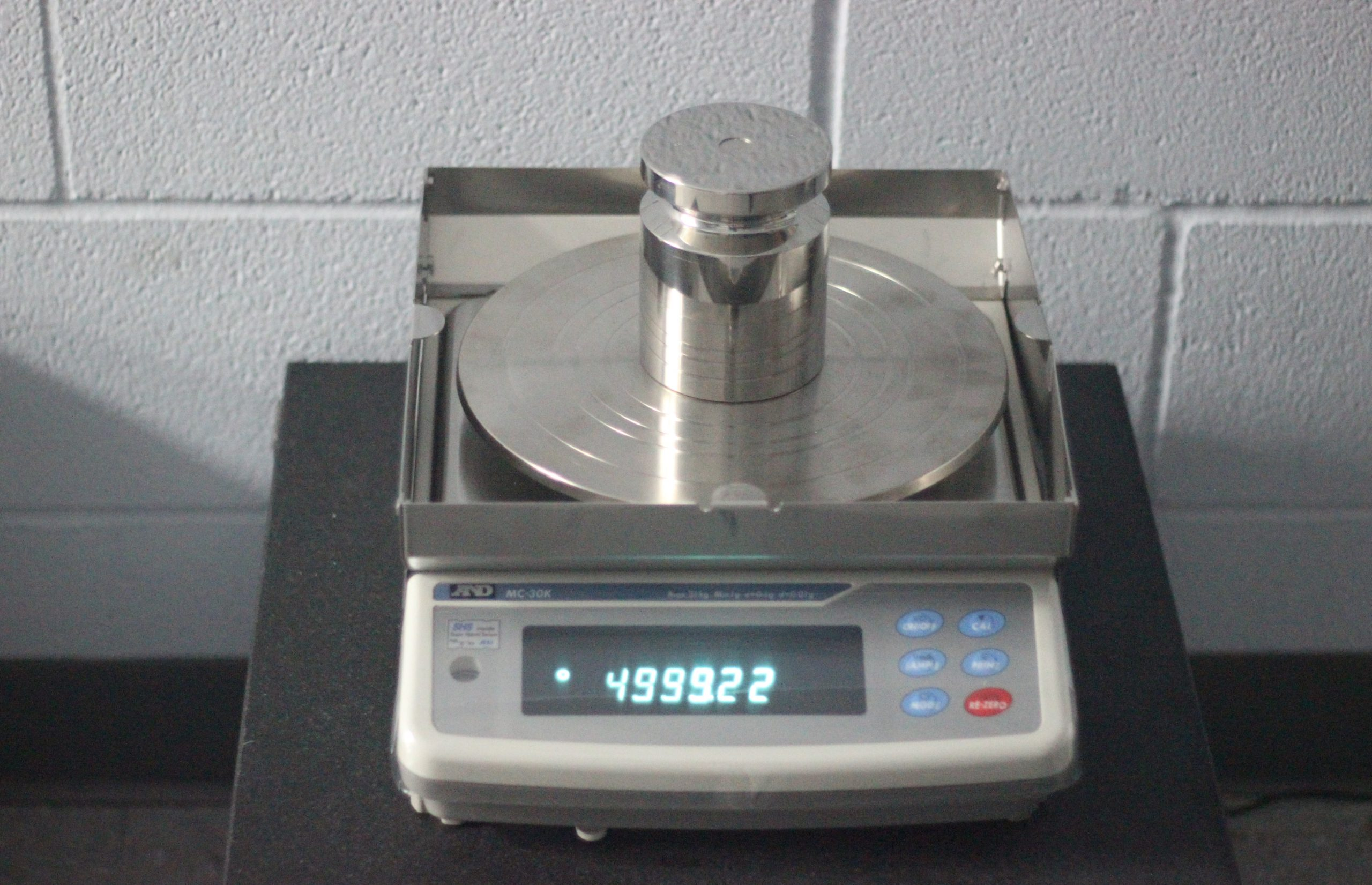 test weight calibration