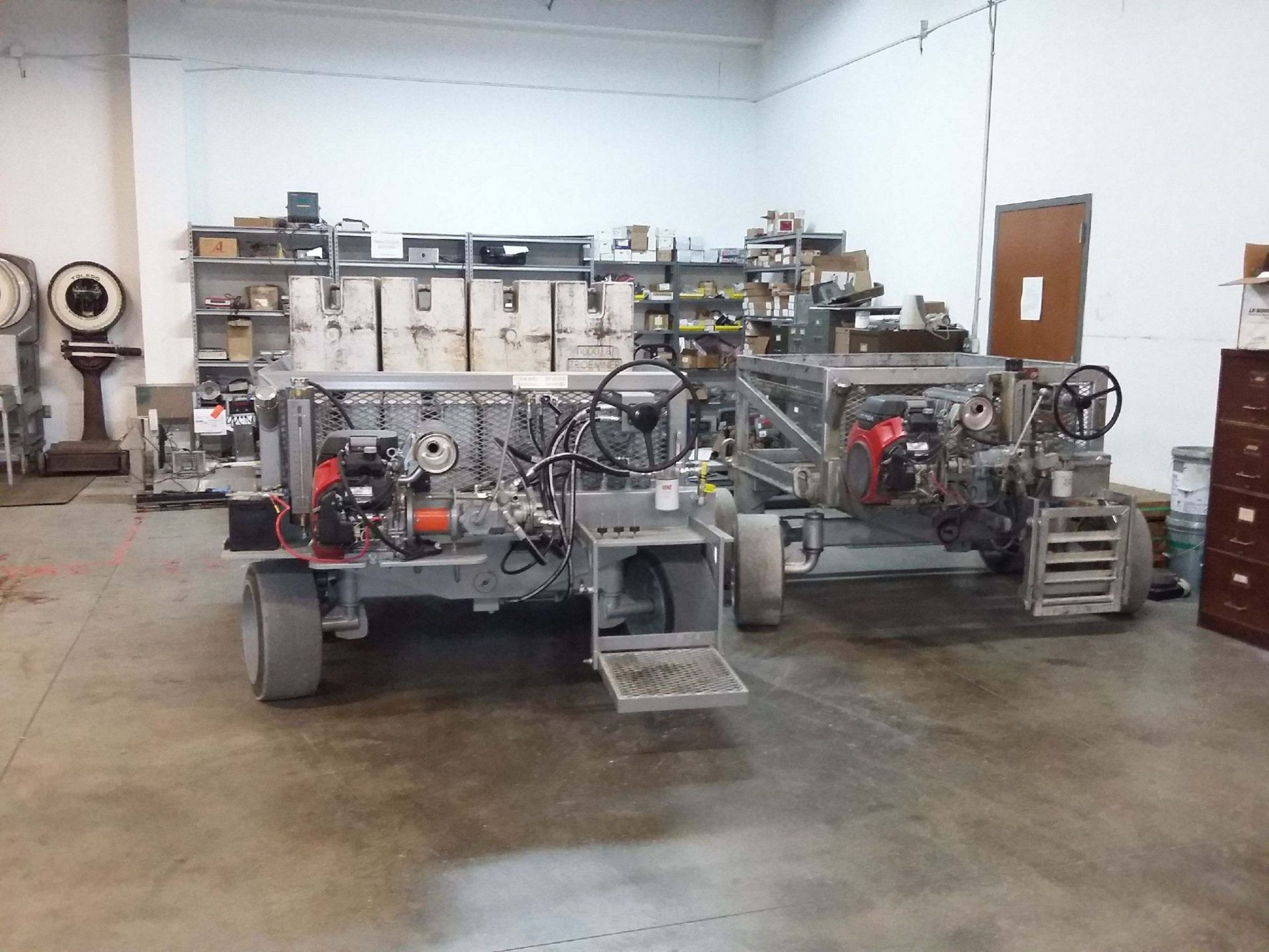 Two test carts in shop